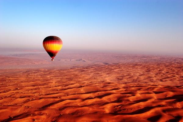 landing View hot air balloon Dubai