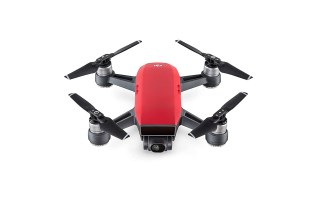 Dji spark quadcopter fly more combo Lava red